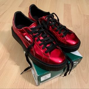 Red Fenty X Puma Sneakers